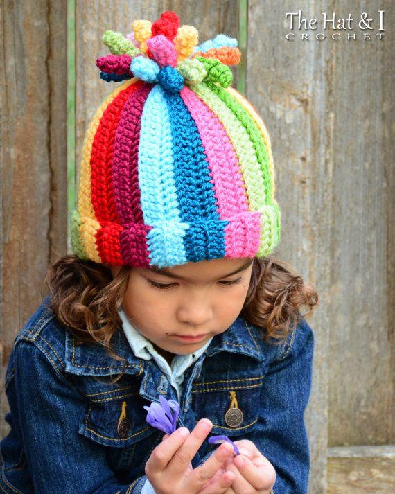 CROCHET PATTERN Tutti Frutti crochet hat pattern colorful | ruby ...