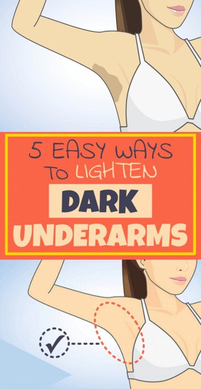 5 Natural Ways To Lighten Your Dark Underarms #Fitness