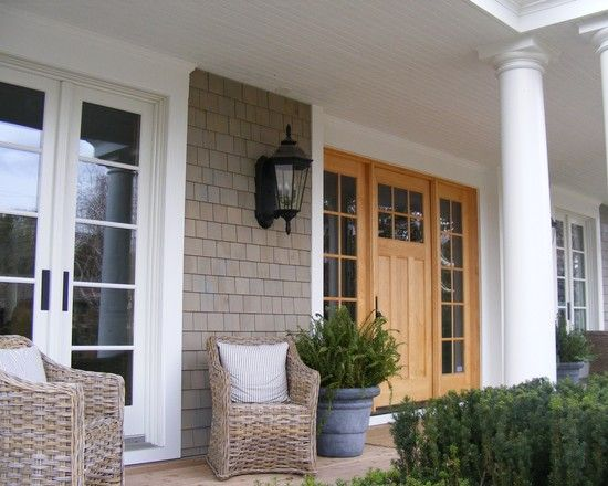 Spaces Vinyl Shake Siding With Brick Design Pictures Remodel Decor And Ideas Page 13 Cape Cod House Exterior Traditional Exterior House Exterior