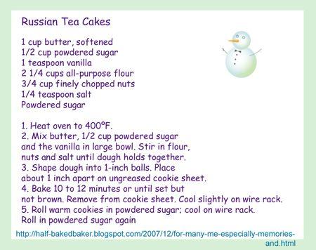Russian tea cake recipes