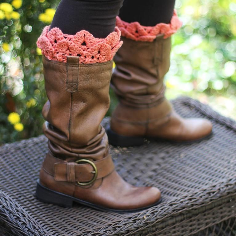 Crocodile Stitch Boot Toppers