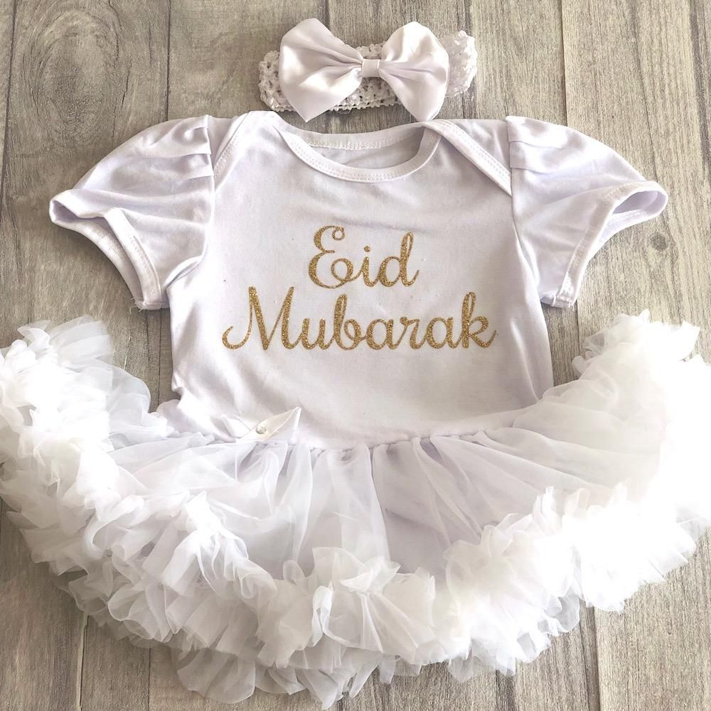 BABY GIRLS PLAIN WHITE TUTU ROMPER DRESS Princess NEWBORN Present Cute Love GIFT