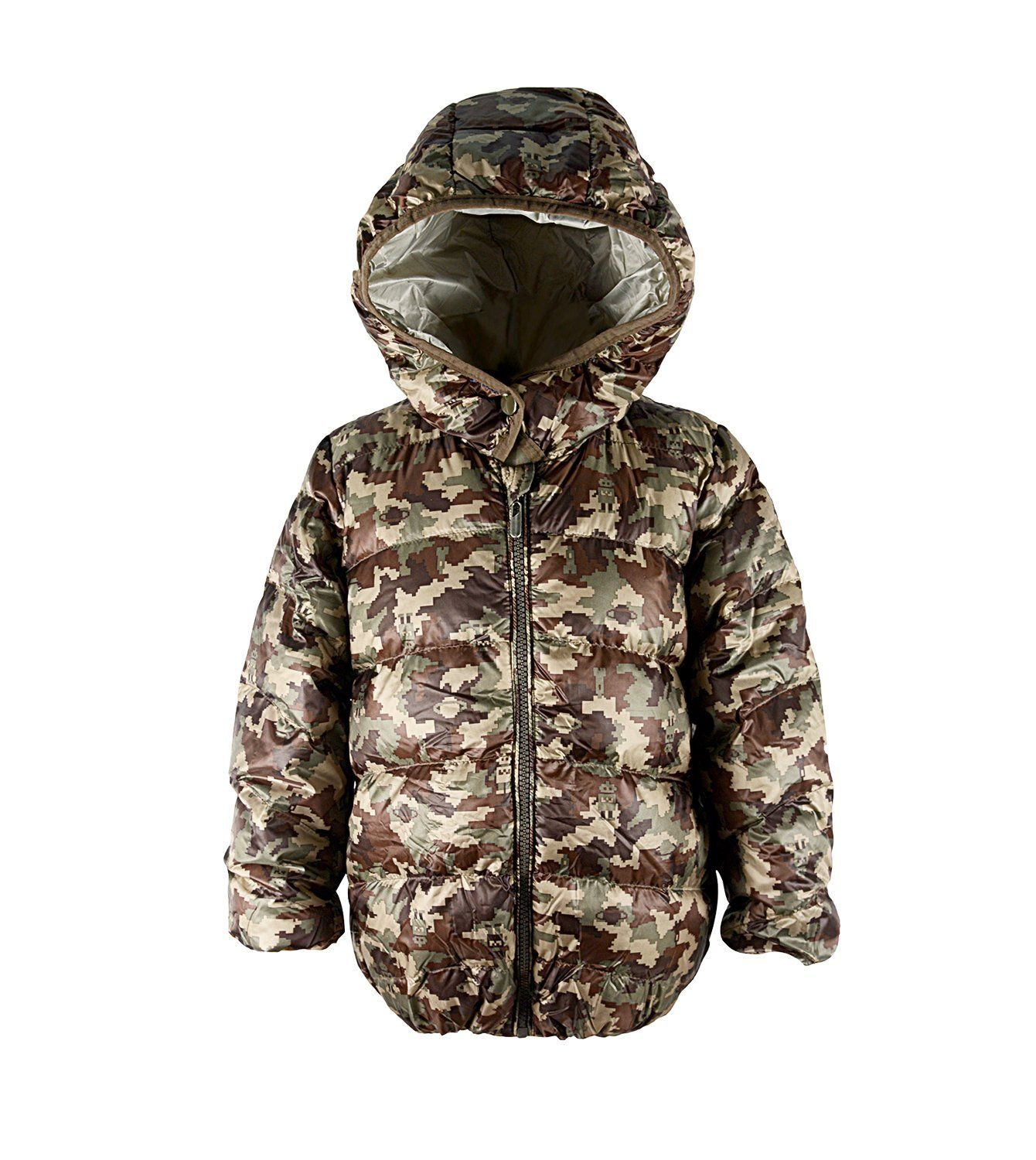 f820f8806 Zando Hooded Printing Warm Down Jacket with Hood Winter Light Weight ...
