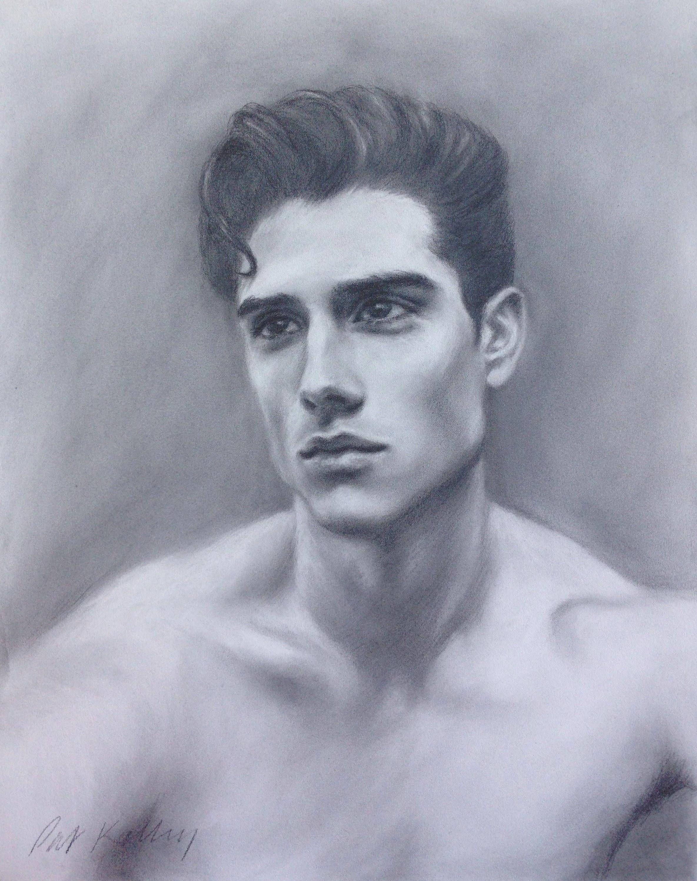 Figure Drawing Male Portrait