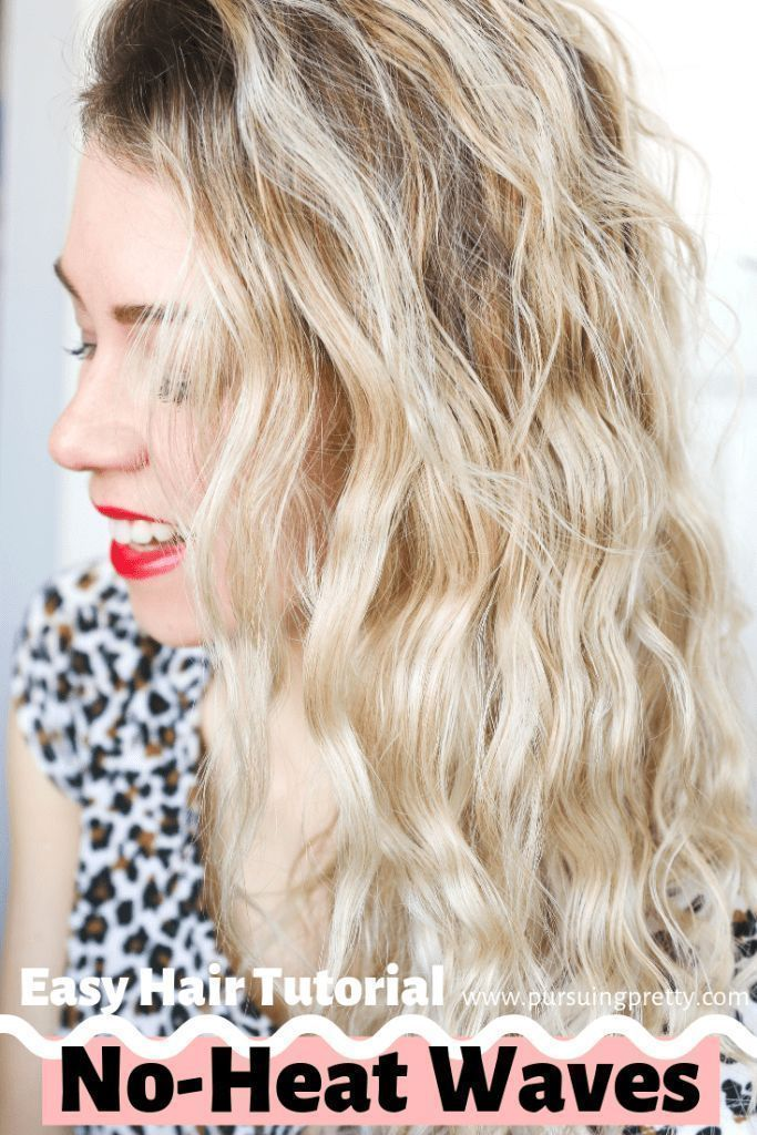 Hair Tutorial: No-heat waves! Get these mermaid beach waves by giving your hair a break from damaging styling tools. #hairinspiration #inspirational #noheathair Hair Tutorial: No-heat waves!  Get these mermaid beach waves by giving your hair a break from damaging styling tools.  #hairinspiration #inspirational... - #beach #giving #mermaid #these #tutorial #waves - #HairstyleWavyWedding #noheathair