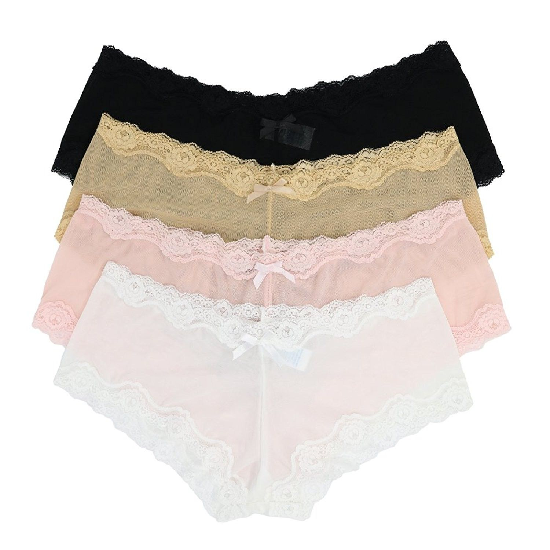 6b0eafe551 Panties Assorted Underwear Black - Black- White- Light Pink- Nude ...