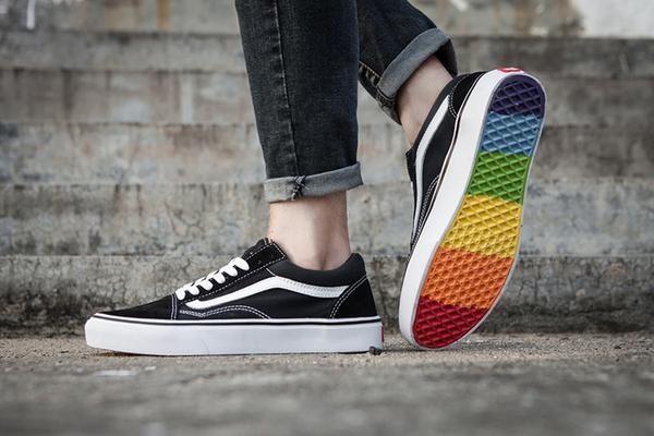 vans rainbow sole shoes