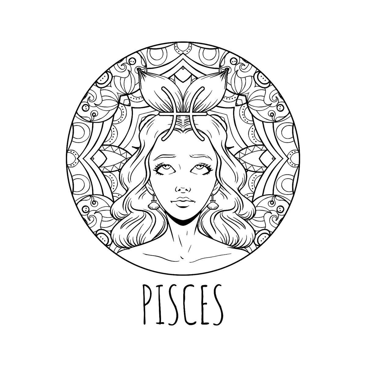 Zodiac Coloring Pages Printable Zodiac Signs Coloring