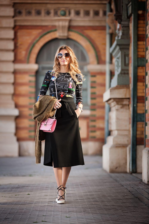 Rocio Forte con top de Dolce&Gabbana con dibujos #kissmylook
