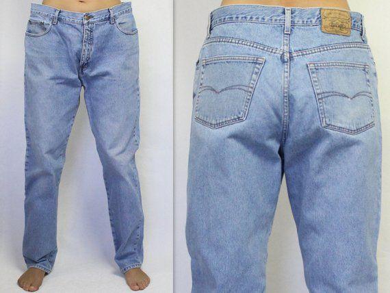 0b9bfbad Lee Cooper Jeans Vintage Lee Cooper Jeans 80s 90s Jeans Light Blue Jeans  Men's Vintage Jeans Denim