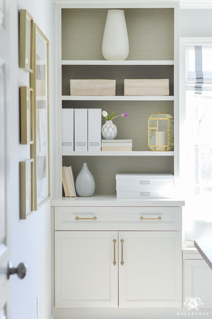 entire office decked. Decked And Styled Spring Home Tour - Kelley Nan- Built-ins In Office Entire