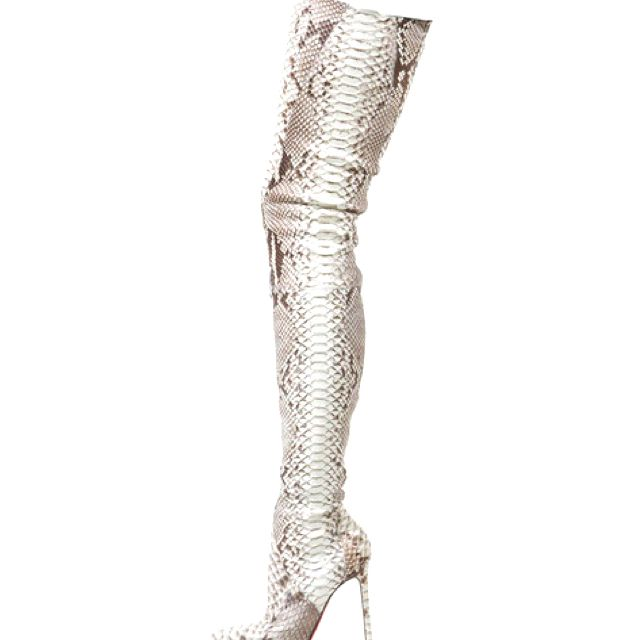 buy popular 49f87 5bdc4 Christian Louboutin snakeskin boots | Chicken Style in 2019 ...