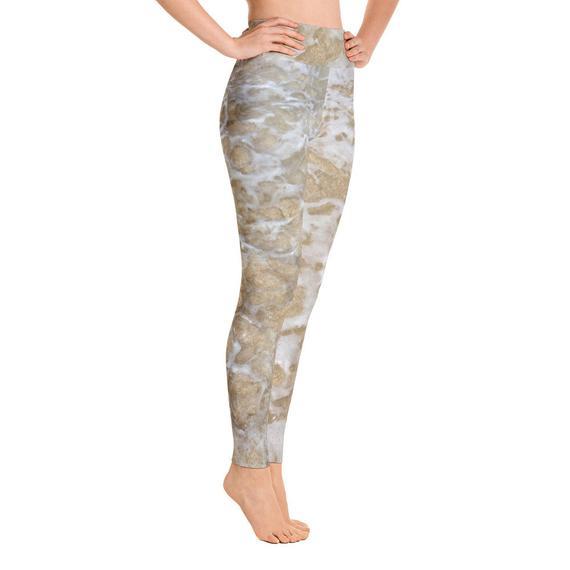 7a6c6178 Sand and Sea Tights   Tropical Yoga Leggings   ocean leggings   beach  leggings   tropical legging