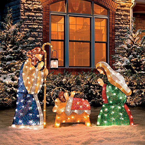 Beautiful lighted outdoor nativity scene lights up a yard for beautiful lighted outdoor nativity scene lights up a yard for christmas decorations on the lawn outdoor nativity sets pinterest lawn aloadofball Gallery