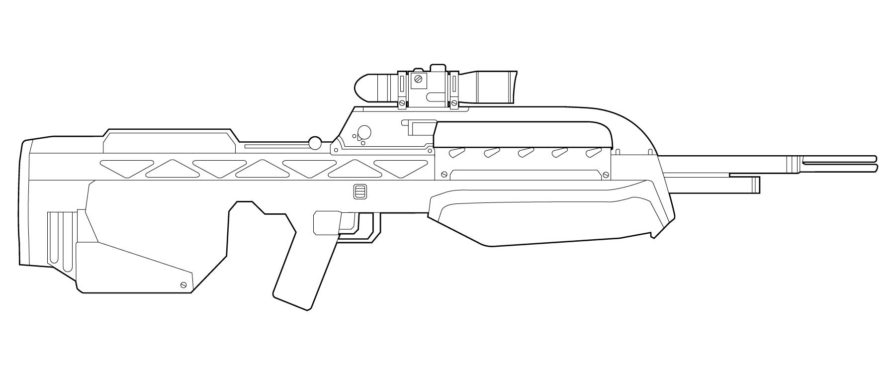 Чертеж оружие из варфейс