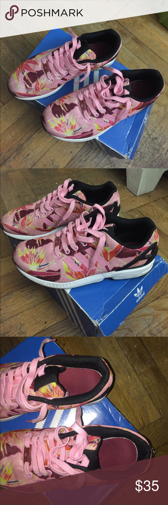 Adidas ZX Flux Size 7, fits a 8/8.5 in women's adidas Shoes