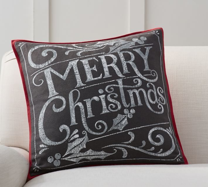 merry christmas pillow covers make it cheap and quick to decorate for the holidays