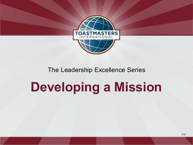 Developing A Mission (Powerpoint)
