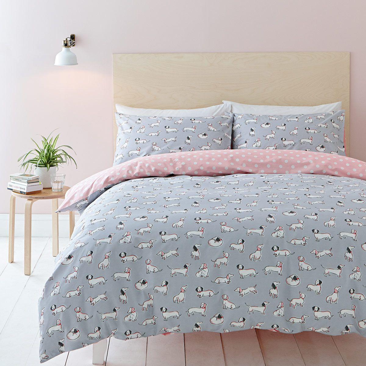sausage dog bed linen