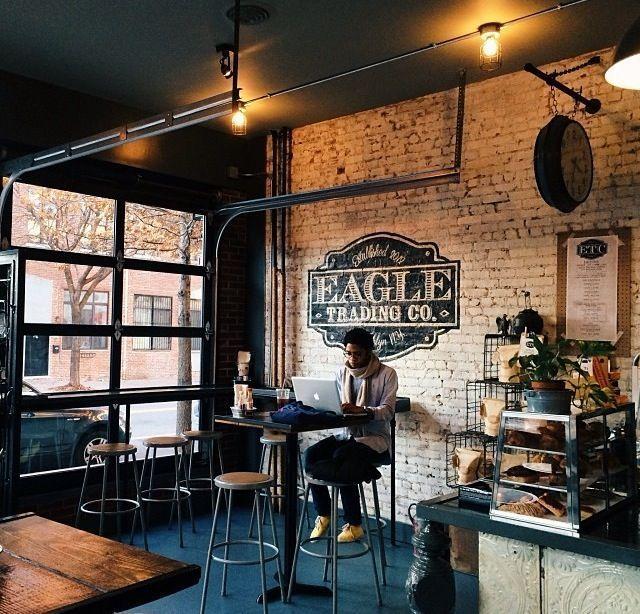 Garage Transformed Into Dazzling Industrial Loft Coffee Shops