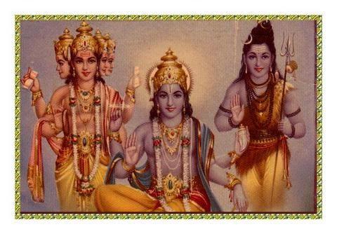 Hindu Trimurti Brahma Vishnu Shiva Hindu Deities Hinduism Art Hinduism