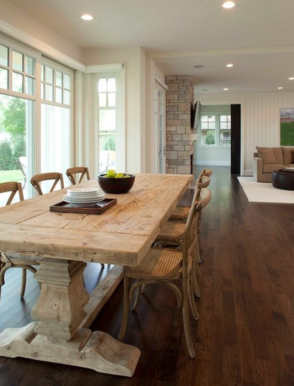 Be Sentimental And Have A Farmhouse Kitchen Table In Your Home Country Dining Rooms Farmhouse Kitchen Tables Craftsman Dining Room
