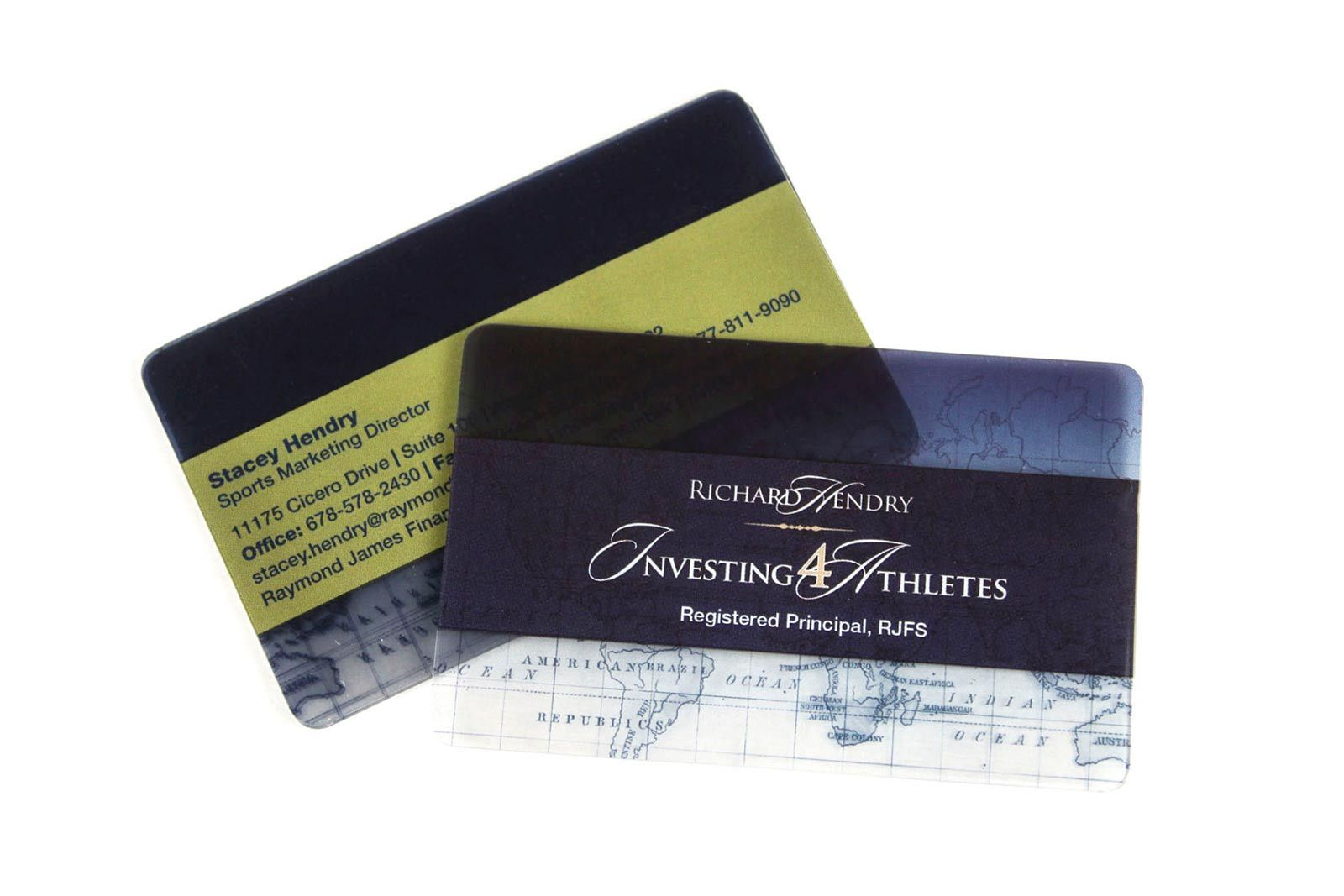 unique clear plastic business cards for investment specialists and ...