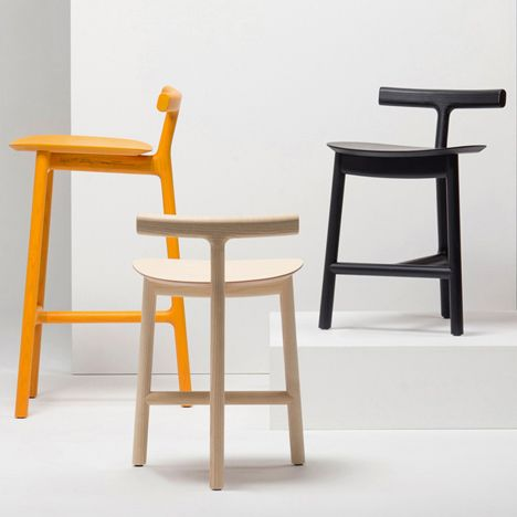 Radice Stools by Industrial Facility for Mattiazzi Chairs