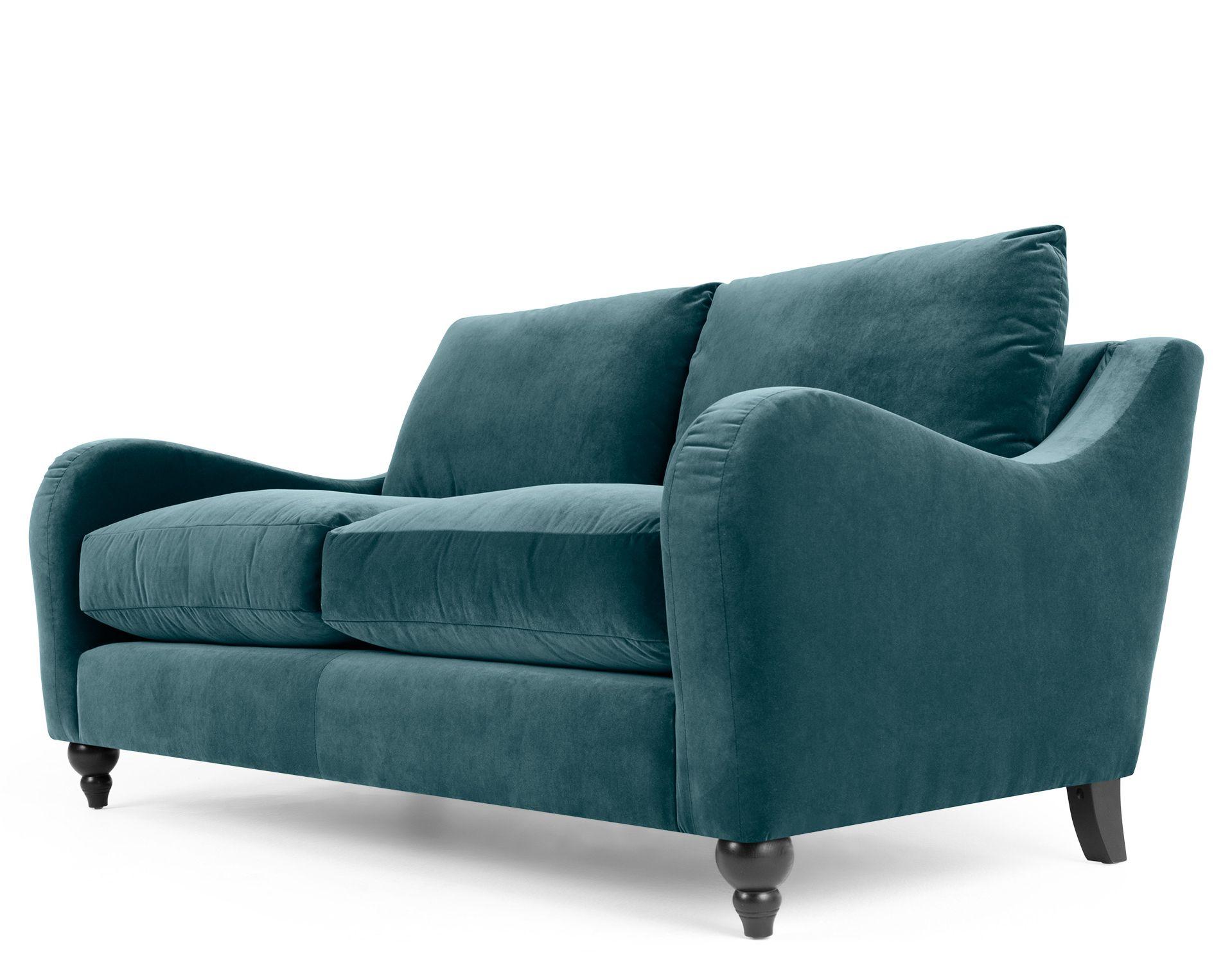 Rosamund 2 Seater Sofa Ocean Blue Velvet