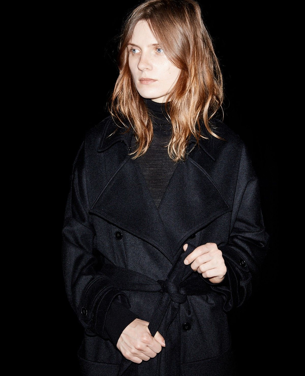 Manteau oversize façon trench en drap de laine The Kooples