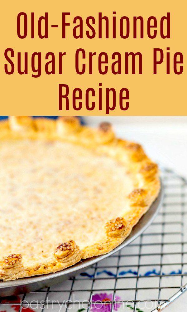 Best Sugar Cream Pie Recipe