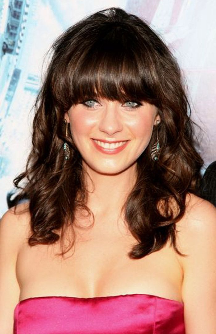 Curly Hairstyle Shoulder Length : 30 cute styles featuring curly hair with bangs medium length