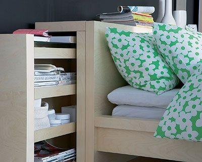 Bedsponde Malm Ikea Home En 2019 Lit Rangement Tête