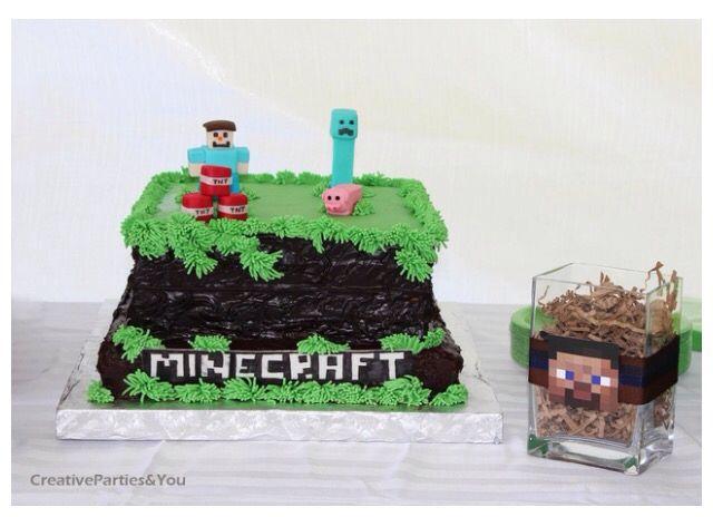 Cool Minecraft cake Logans Birthday Pinterest Minecraft cake