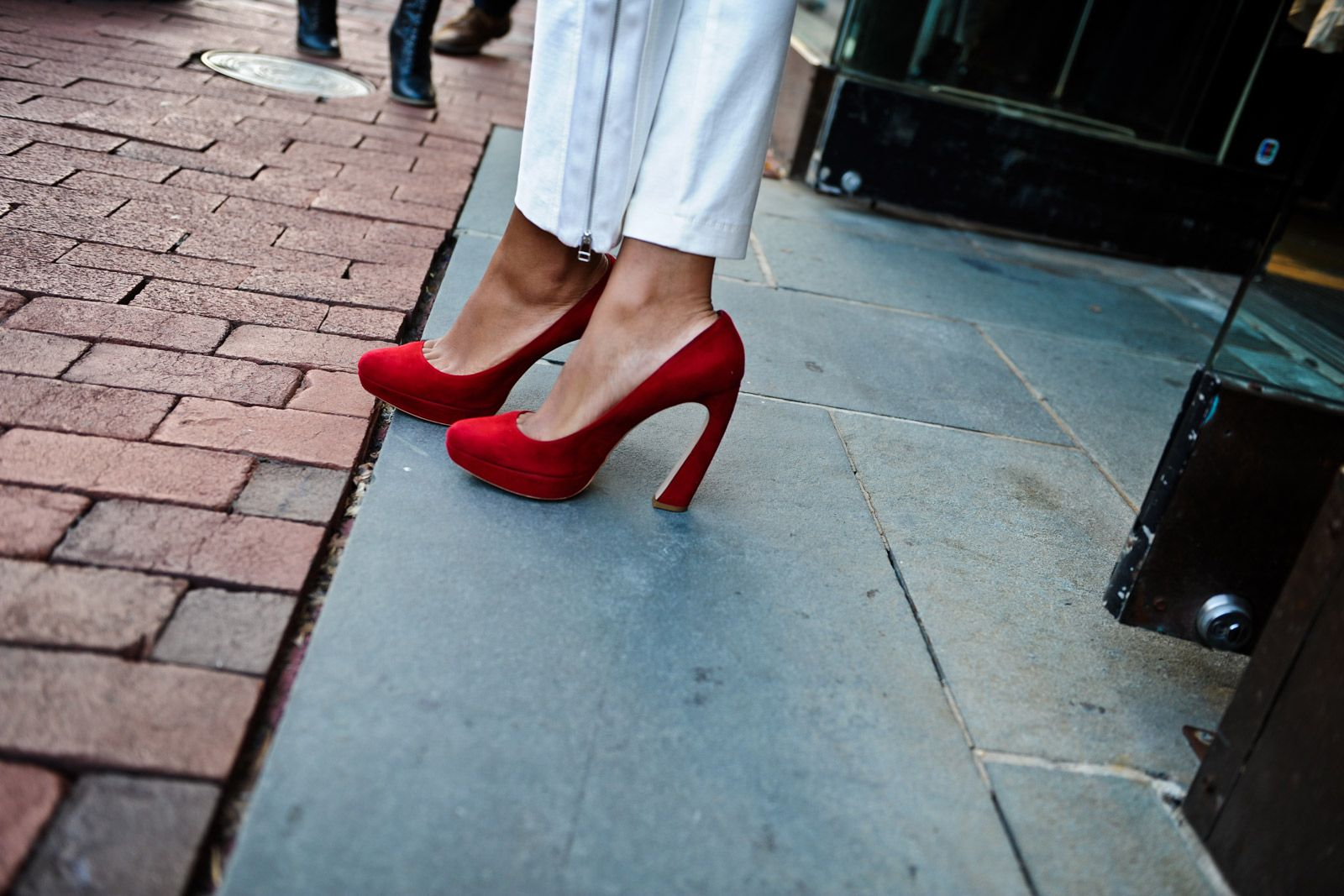 Album Of Awesome: 28 So-Rad Party Pics From Fashion's Night Out #refinery29  http://www.refinery29.com/fashions-night-out-dc#slide16  The architectural heel on these crimson pumps is just so perfect.