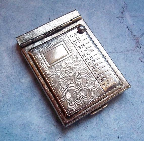 tiny vintage brass address book purse size pinterest book purse