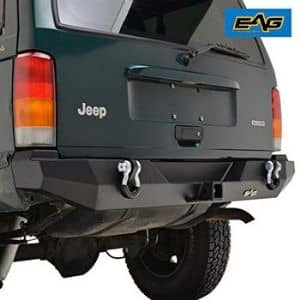 Eag Steel Rear Bumper With Hitch Receiver Fit For 1984 2001 Jeep