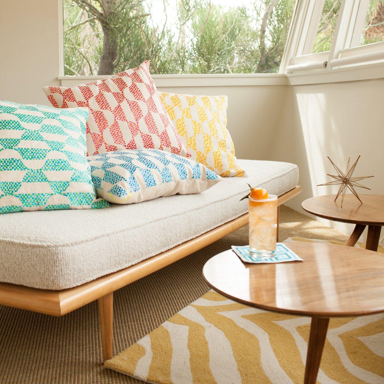 Trina Turk Pillow Embroidered Linen Ventura Pink...
