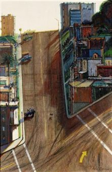 Street and Shadow By Wayne Thiebaud