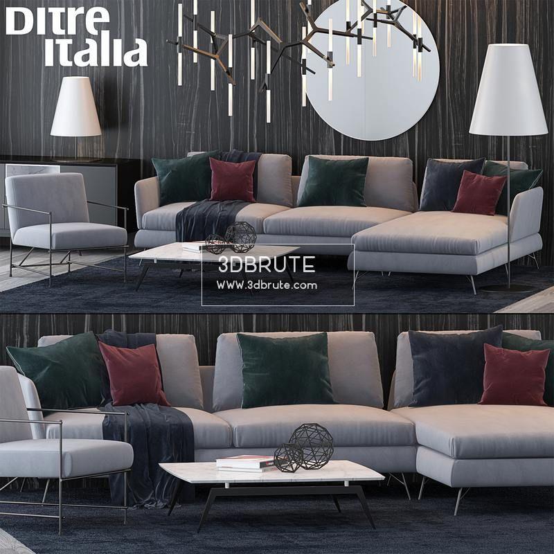 Ditre italia Sofa 3dmodel - 3dbrute 3dmodel