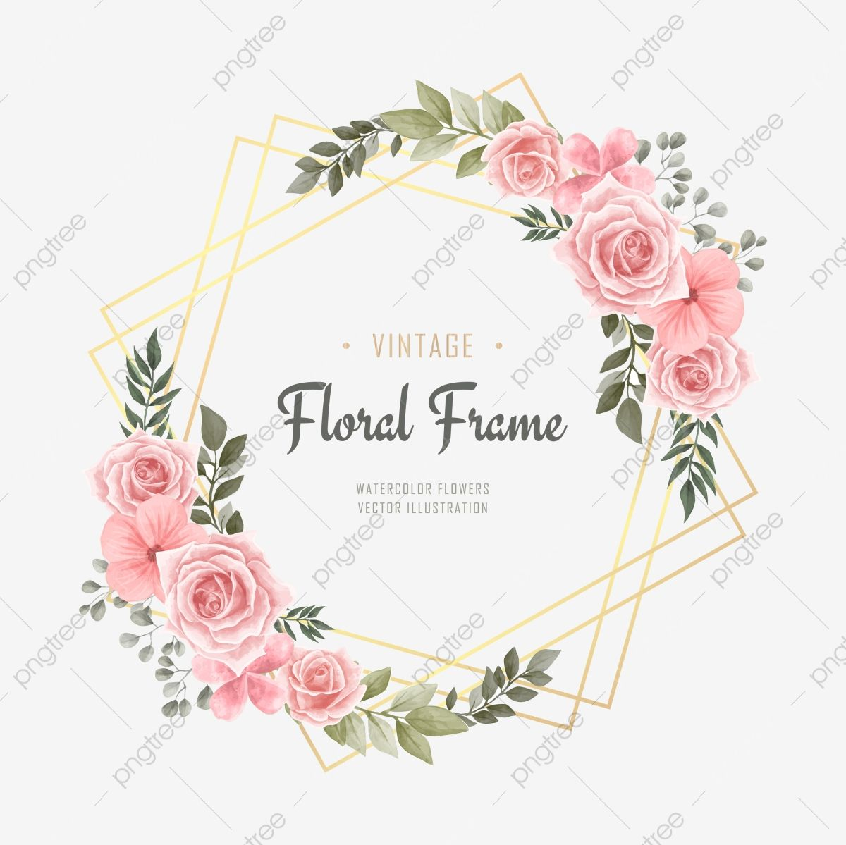 Beautiful Watercolor Flower Background Flower Flyer Png And
