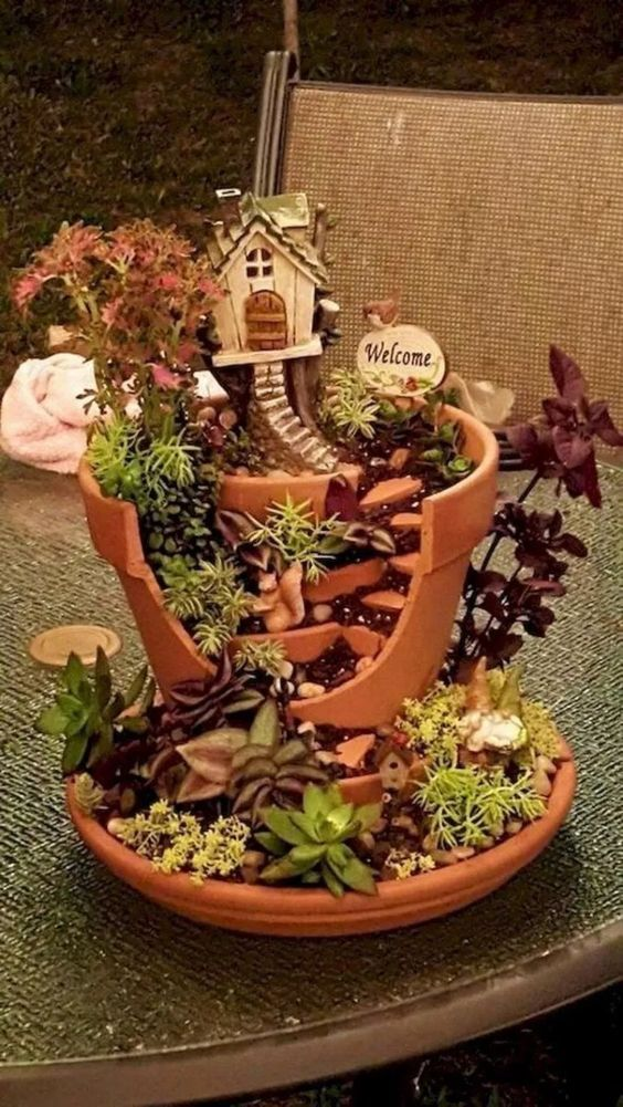 Photo of 32+ einfache DIY Fairy Garden Design-Ideen