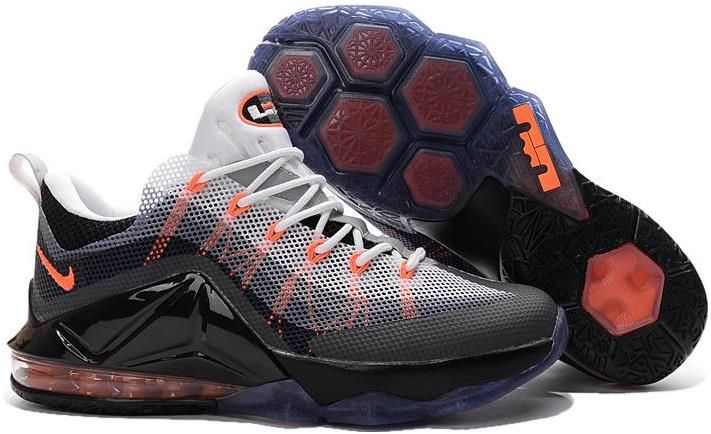 outlet store 9de7b fb80e ... aliexpress nike lebron 12 low air max 95 hybrid grey orange white black  f55ea 30117