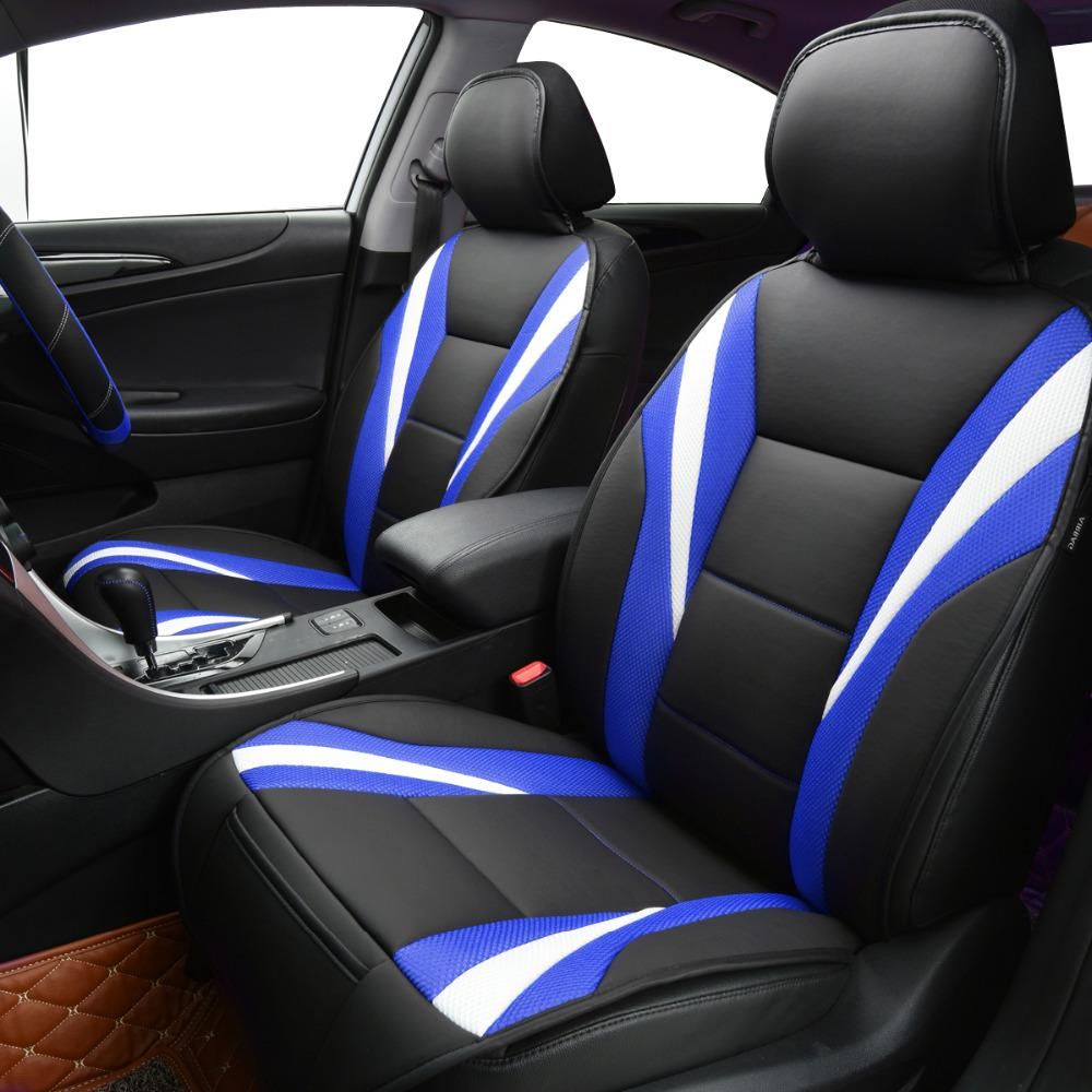 Car Pass Summer Luxury Two Color Seat Cover Universal Car Seat Covers Red Blue Whole Car Seat Cushion Car Accessories Car Seat Cushion Car Seats Carseat Cover