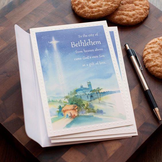 City Of Bethlehem Christmas Cards: Bible Verse II Corinthians 13:11 KJV