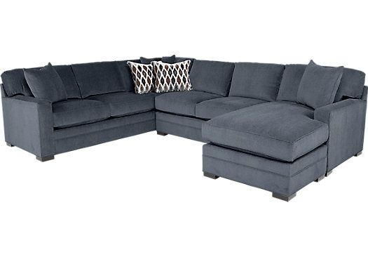 Highpoint Charcoal 2 Pc Sectional Living Room