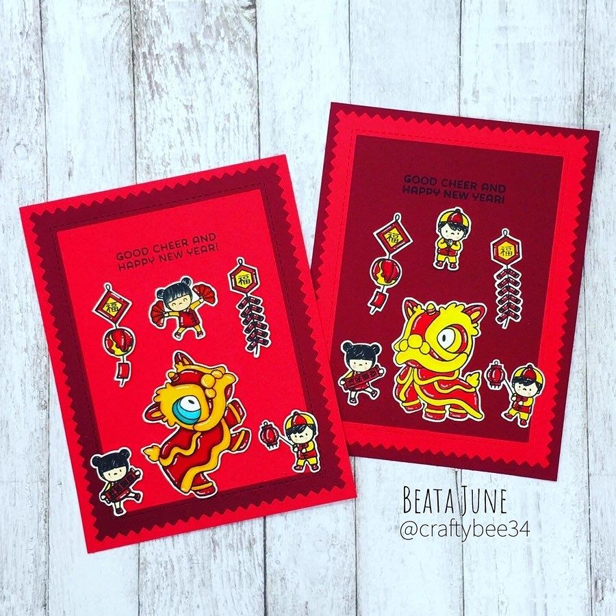 Handmade Chinese New Year 🧧 cards and envelopes with Mama
