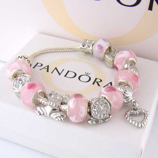 pandora pink charms bracelets her bling pinterest