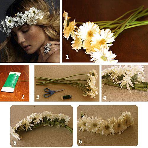haz tu propia corona de flores diy