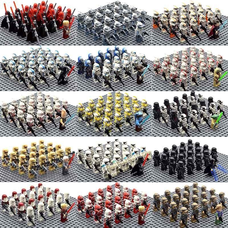 21PCS American Revolutionary War Mini Figure Building Block USA Army Soldier Toy